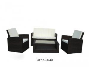 Modern Leisure Rattan Outdoor Garden Furniture One Tea table Two Single Chairs One Lover Sofa