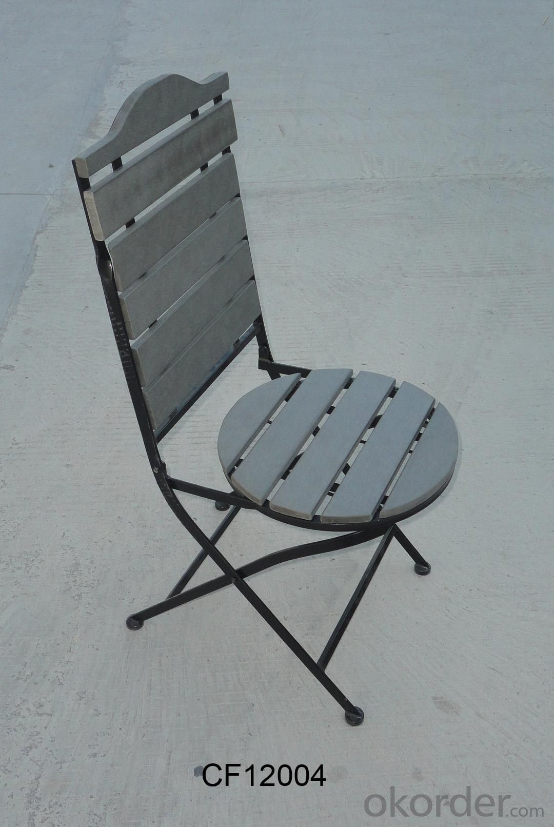 Classical Outdoor Furniture Iron and Wood Plastic Board Folding Chair