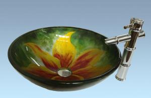 Hot Selling New Design Bathroom Product Tempered glass Hyperbolic Washbasin