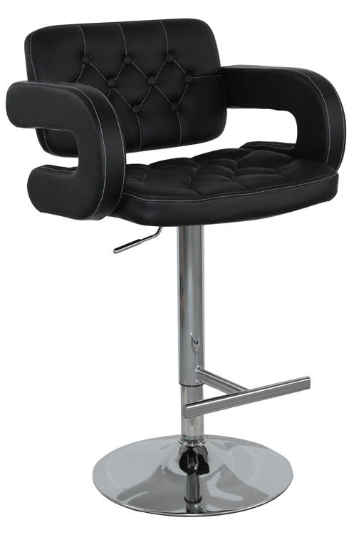Hot Selling High Quality Comfortable Black PU And PVC Bar Stool