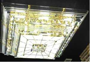 Crystal Ceiling Light Pendant Lights Classic Golden Ceiling Pendant Light Cake Type 800*800