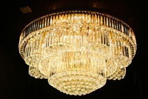 Crystal Ceiling Light Pendant Lights Classic Golden Ceiling Pendant Light 429PCS Light Ball Round D1200mm