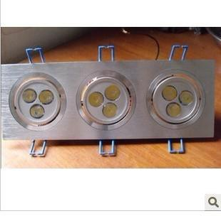 LED Downlight 3pcs 3*1 W