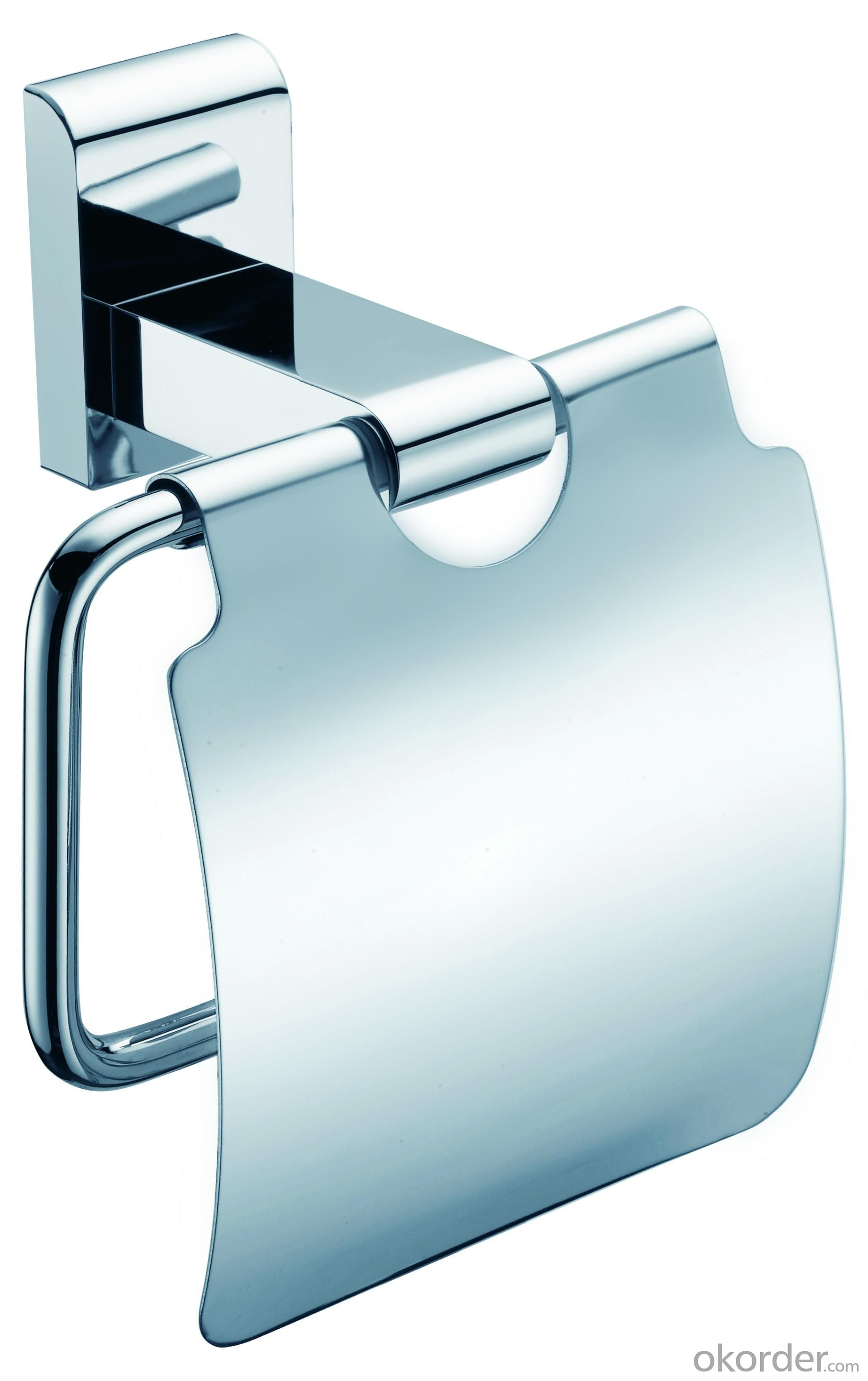 Decorative Organize Exquisite Bathroom Accessories Solid Brass Roll Holder