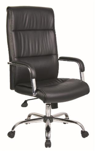 Black Modern style PU Office Chair/350mm chromed/Butterfly tilt/Office Furniture