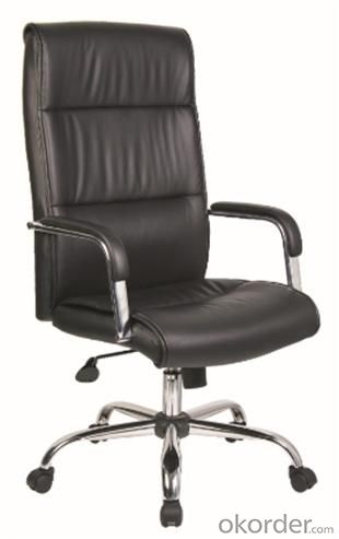 Black Modern style PU Office Chair/350mm chromed/Butterfly tilt/Office Furniture