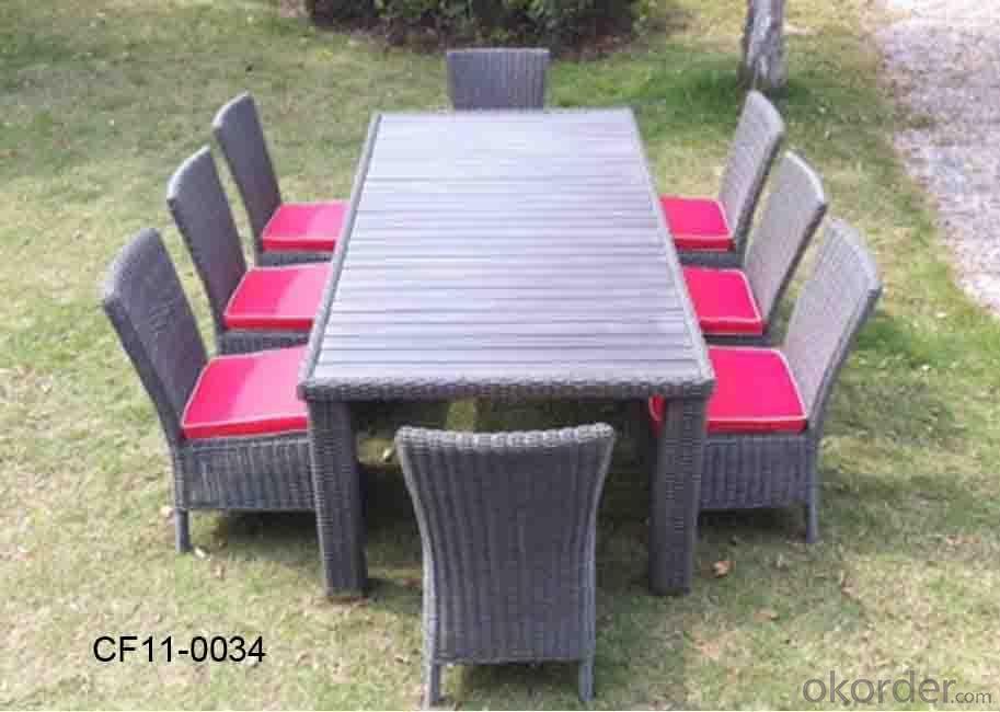 Classical Modern Leisure Rattan Outdoor Garden Furniture Table Set