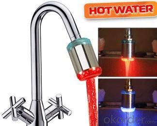 Unique Design Temperature Control Colour Changing Led Bath Faucets Brass Body Bathroom Faucets