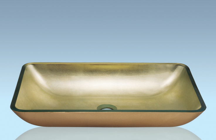 Unique Design Hot Selling Bathroom Product Tempered glass Rectangle Washbasin