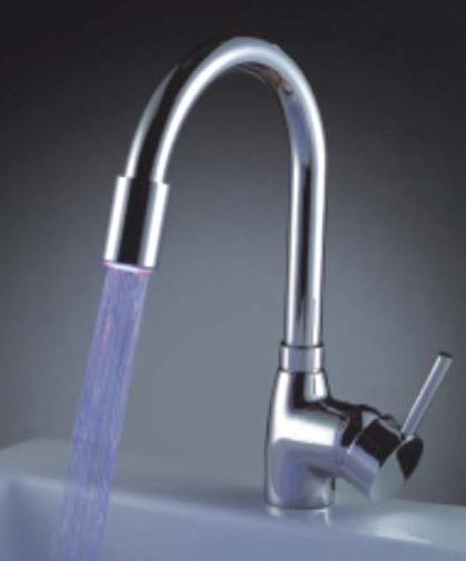Unique Design Temperature Control Colour Changing Led Bath Faucets Basin Mixer
