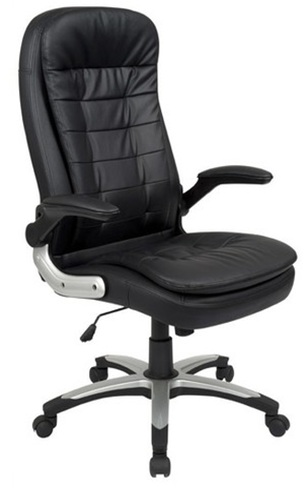 Modern style PU Office Chair/350mm Power Coated/Butterfly tilt/Office Furniture