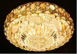 Crystal Ceiling Light Pendant Lights Classic Golden Ceiling Pendant Light 96PCS Light Ball Round D800mm