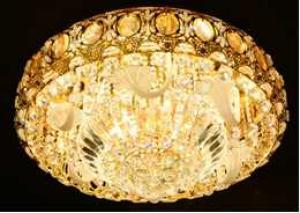 Crystal Ceiling Light Pendant Lights Classic Golden Ceiling Pendant Light 96PCS Light Ball Round D800mm