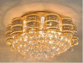 Crystal Ceiling Light Pendant Lights Classic Golden Ceiling Pendant Light 102PCS Light Ball Round D600mm