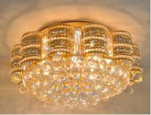 Crystal Ceiling Light Pendant Lights Classic Golden Ceiling Pendant Light 102PCS Light Ball Round D600mm