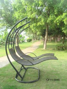 Classical Simple Rattan Outdoor Garden Furniture Lover Swing Basket