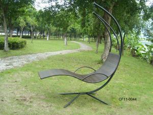 Classical Simple Rattan Outdoor Garden Furniture Swing Basket