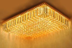 Crystal Ceiling Light Pendant Lights Classic Golden Ceiling Pendant Light 226PCS Light Ball 1090*780