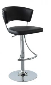 Hot Selling High Quality Comfortable Black Chrome Metal Frame Bar Stool