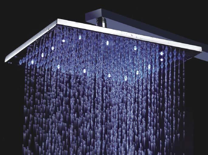 Unique Design Temperature Control Colour Changing Led Bath Faucets 12