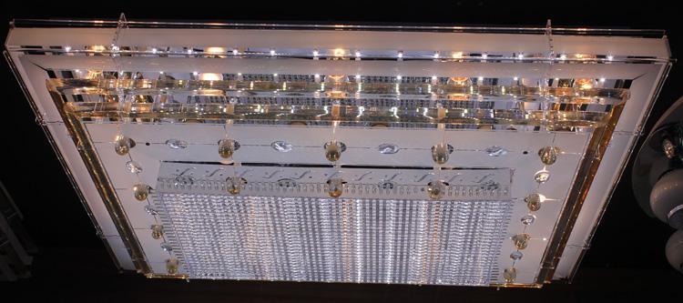 LED Crystal Ceiling Light Pendant Lights Classic Golden Ceiling Pendant Light 1100*800 LED Lighting High Brightness Type 1
