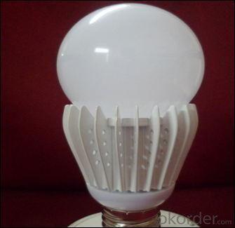 LED Bulb PC Cover Ivory White Body SMD Chip 8W E27 High CRI