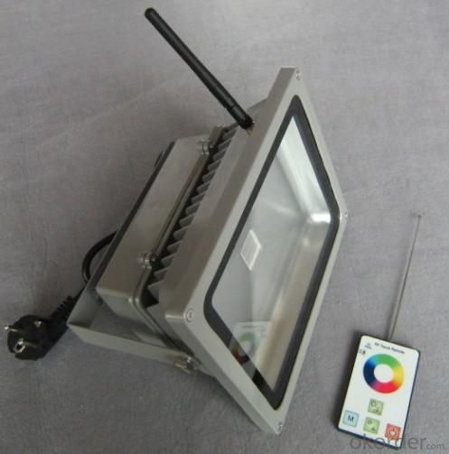 LED RF RGB Flood Light High Brightness IP 65 30W
