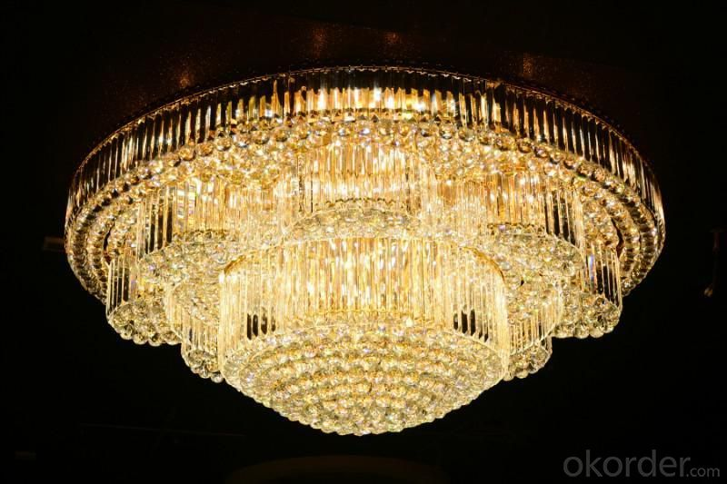 Crystal Ceiling Light Pendant Lights Classic Golden Ceiling Pendant Light 864PCS Light Ball Round D1500mm