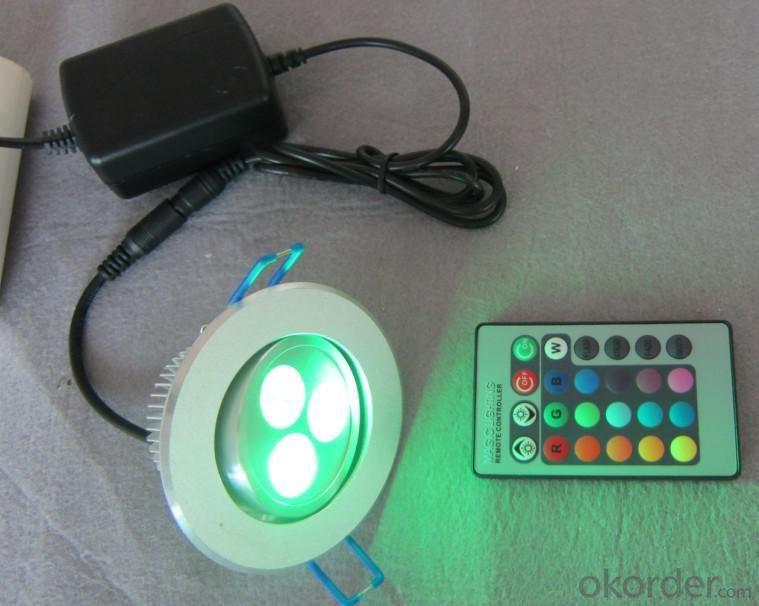 LED Downlight IR RGB Low-voltage 3*1 W