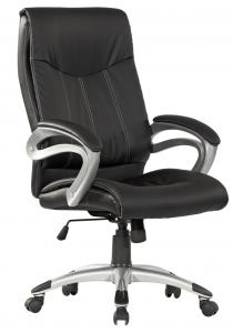 Model Style Hot Selling High Quality High Back Full Black Half PU Power Coating Office Chair