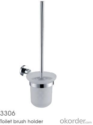 New Decorative Exquisite Solid Brass Bathroom Accessories Toilet Brush Holder