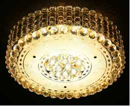 Crystal Ceiling Light Pendant Lights Classic Golden Ceiling Pendant Light 37PCS Light Ball Round D600mm