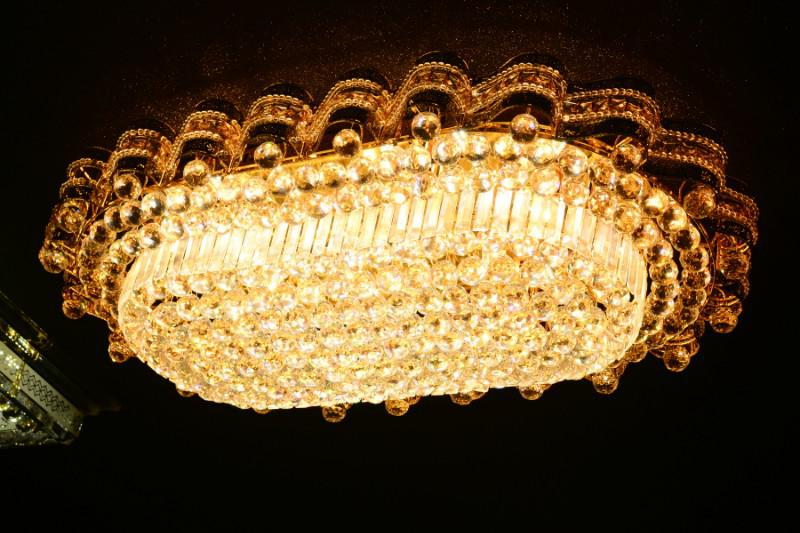 Crystal Ceiling Light Pendant Lights Classic Golden Ceiling Pendant Light 294PCS Light Ball 1150*750