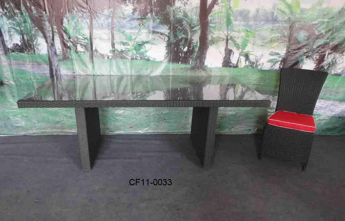 Modern Leisure Rattan Outdoor Garden Furniture Table Set