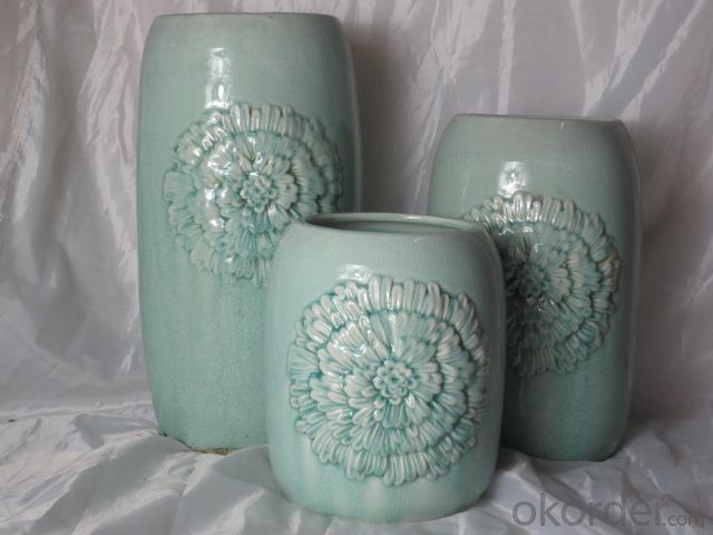 Hot Selling Fashion Home Décor Ceramic Light Color Flower Jar L
