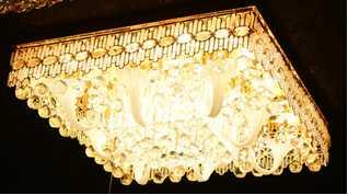 Classic Golden Ceiling Pendant Light 101PCS Light Ball 750*750