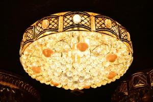 Crystal Ceiling Light Pendant Lights Classic Golden Ceiling Pendant Light 158PCS Light Ball Round D800mm