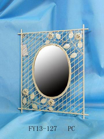 Antique Home Decoration Metal Squal Wall Decoration With Mirror 1