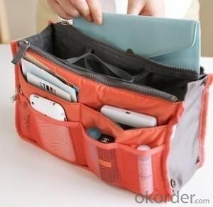 Hot Selling Home Storage Orange Dual Zippers Organizer