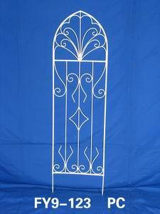 Home Decoration Garden Decor White Iron Trellis