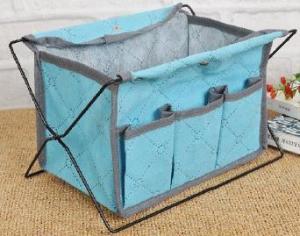 High Quality Home Storage Iron Shelf Blue Non-woven