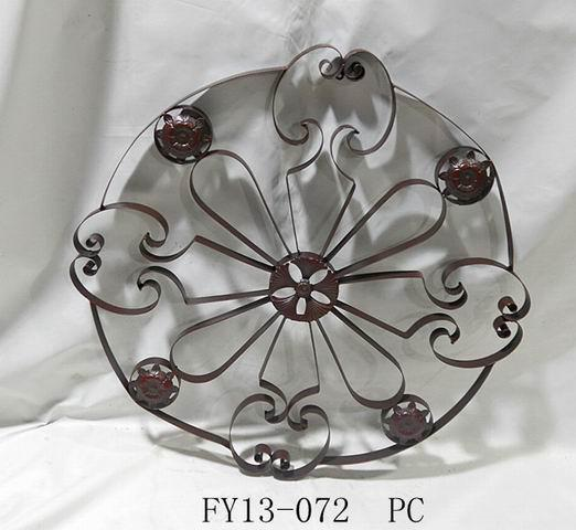 Antique Home Decoration Metal Round Wall Art Decoration