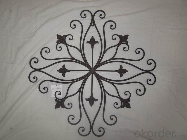 Hot Selling New Design Iron Craft Beauty Wall Decoration