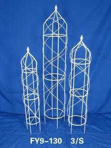 Home Decoration Garden Decor Set Of 3 Pcs White Trellis