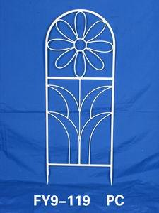 Home Decoration Garden Decor White Iron Garden Harvest Trellis
