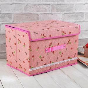 High Quality Home Storage Cherry Pattern Organizer
