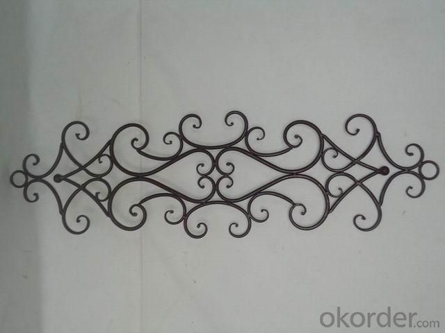 Hot Selling New Design Iron Craft Rectangle Wall Decoration