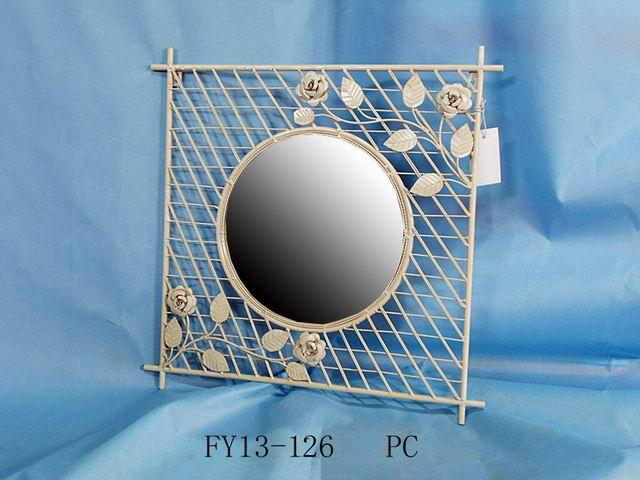 Antique Home Decoration Metal Squal Wall Decoration With Mirror