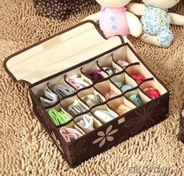 High Quality Home Storage 18 Grid Oxford Fabric Bra Storage Box