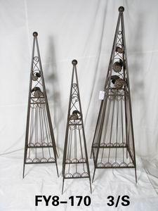 Home Decoration Garden Decor Set Of 3Pcs Green Pyramid Trainer Trellis